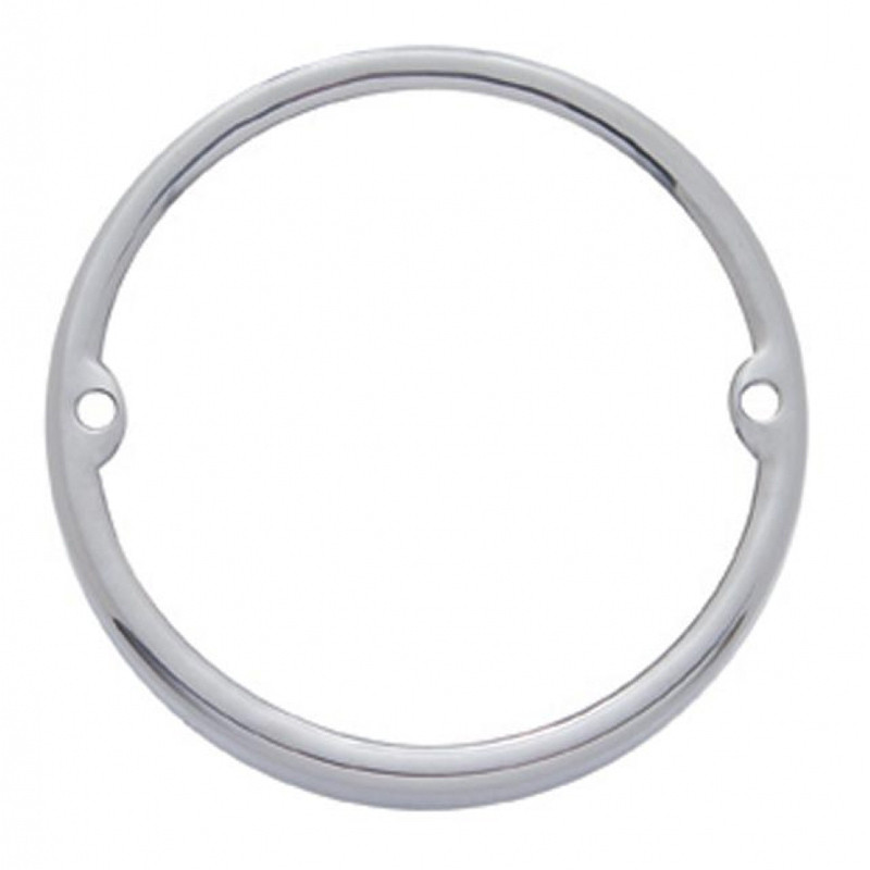 Stainless Steel Round Cab Light Bezel