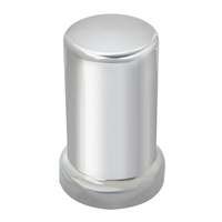 33mm Chrome Plastic Tall Top Hat Nut Cover Thread On