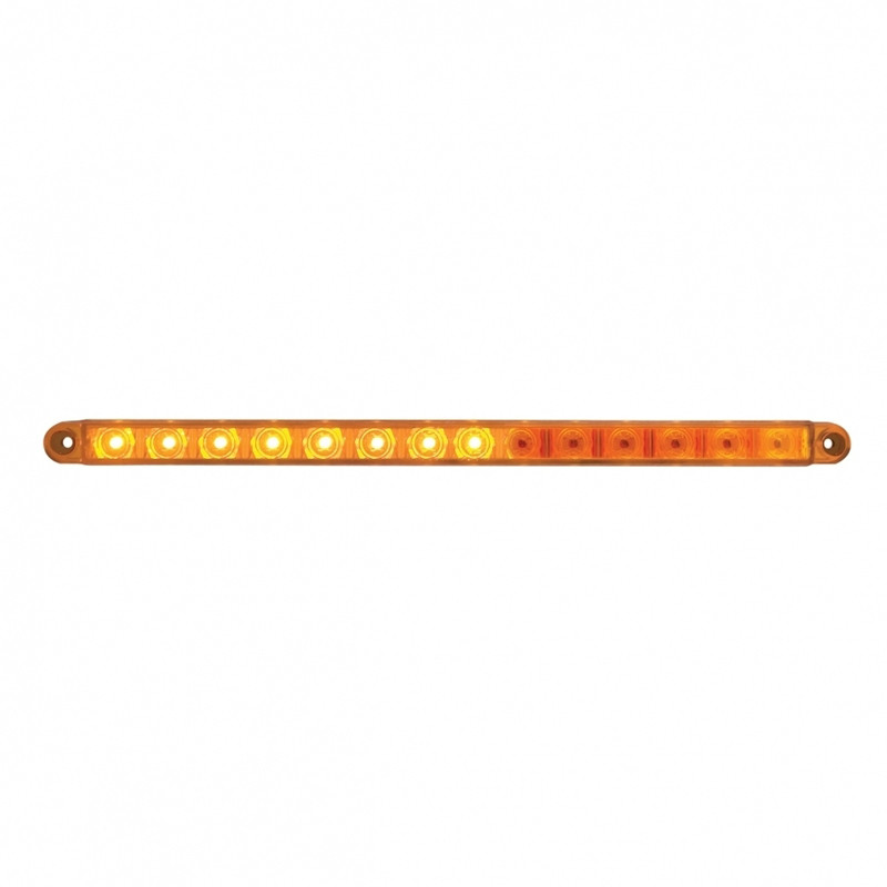 "12"" Sequential 14 LED Amber Light Bar"