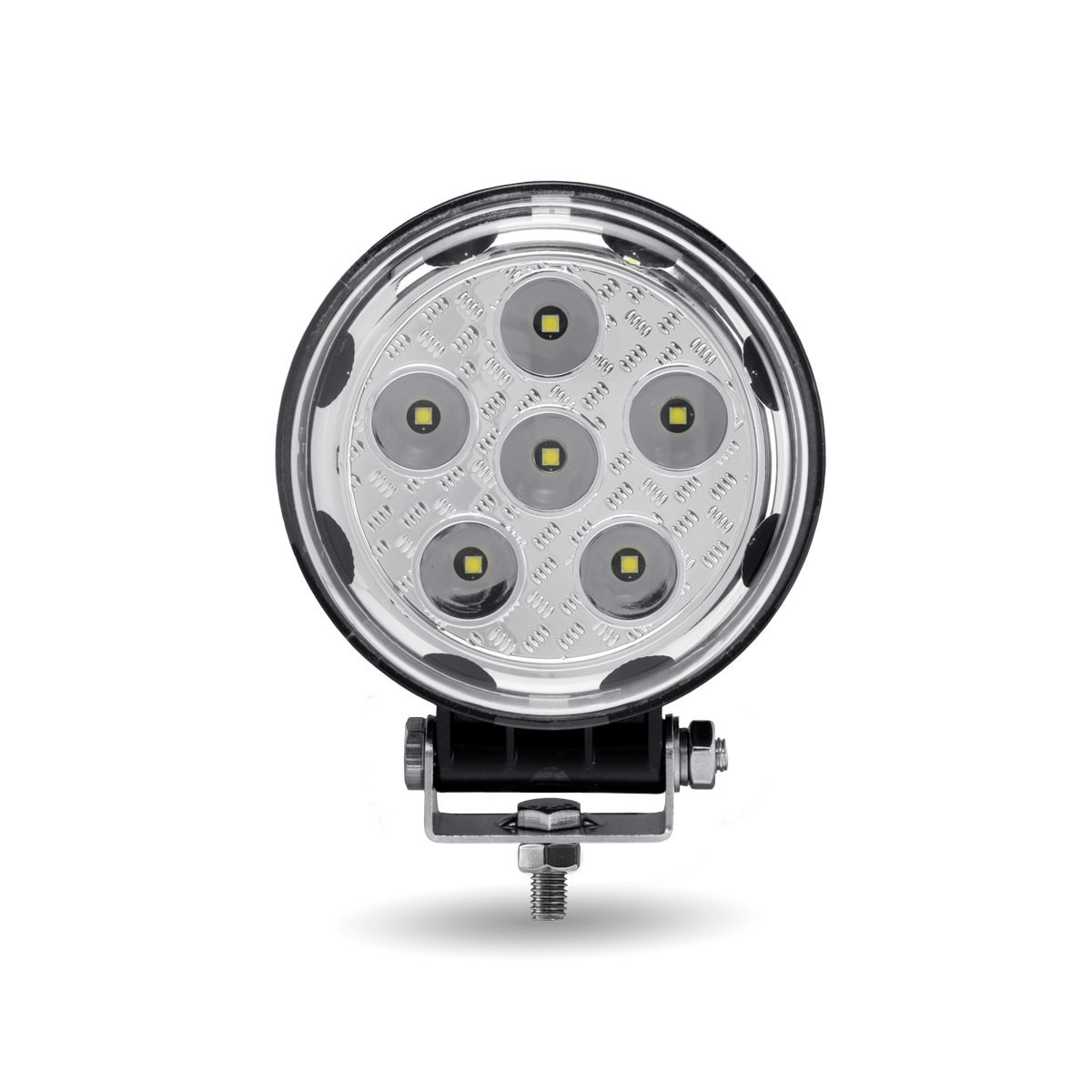 "4.5"" Round 'Radiant Series' Universal LED Spot And Flood Beam Work Light Front"