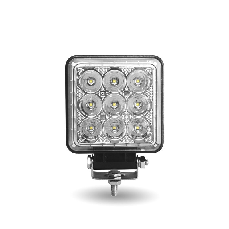 "4.25"" Square 'Radiant Series' Universal LED Spot And Flood Beam Work Light Front"
