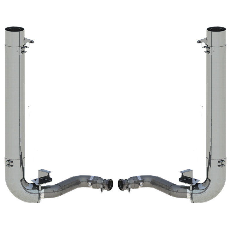 "International Lonestar 2011-2017 AK Lite 8"" Dynaflex Exhaust Kit"
