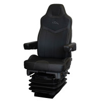 Pinnacle Truck Seat Black Leather Black Cloth