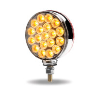 Round Double Face LEDs With Reflector Amber