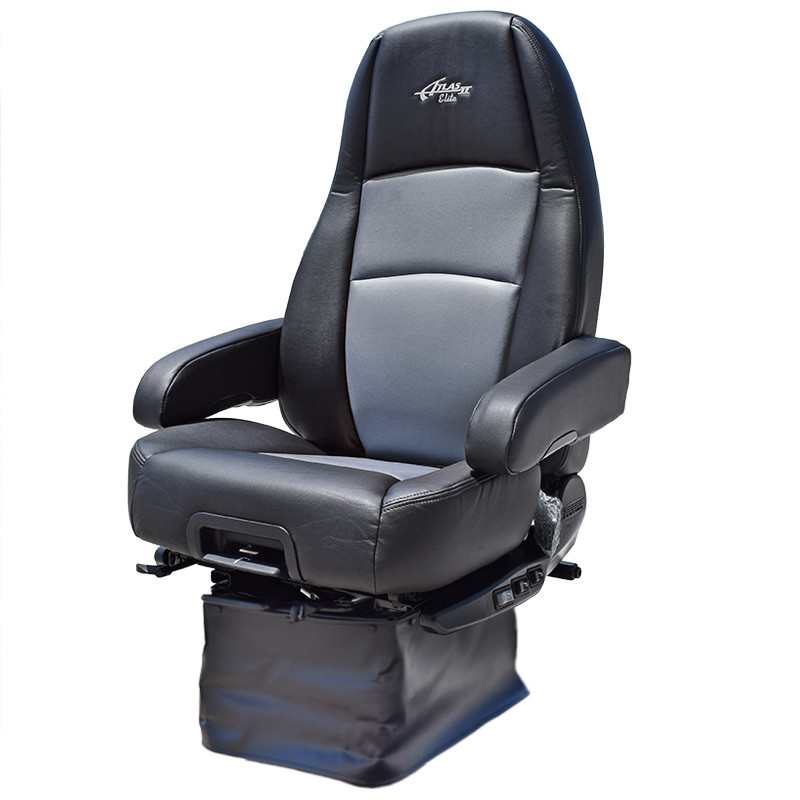 Sears Atlas II DLX Seat Highback Black & Grey Leather With Arm Rests