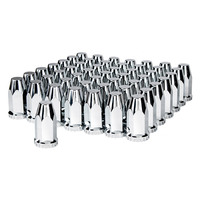 60 Pack Chrome Super Spike Nut Covers