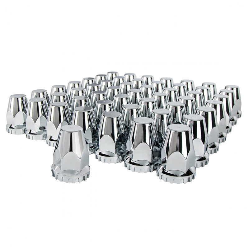 60 Pack Chrome Original Nut Covers