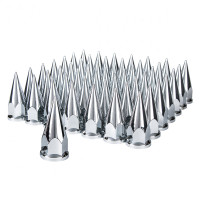 60 Pack Chrome Super Spike Nut Cover