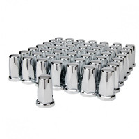 60 Pack Chrome 33mm Tall Classic Nut Covers