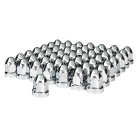 60 Pack Chrome Bullet Nut Cover