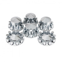 Complete Chrome Pointed Cover Kit with Lug Nut Covers