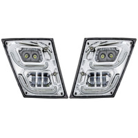Volvo VN VNL High Power Full LED Chrome Fog Light With Daytime And Position Light Both