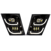 Volvo VN VNL High Power Full LED Blackout Fog Light With Daytime And Position Light Both On
