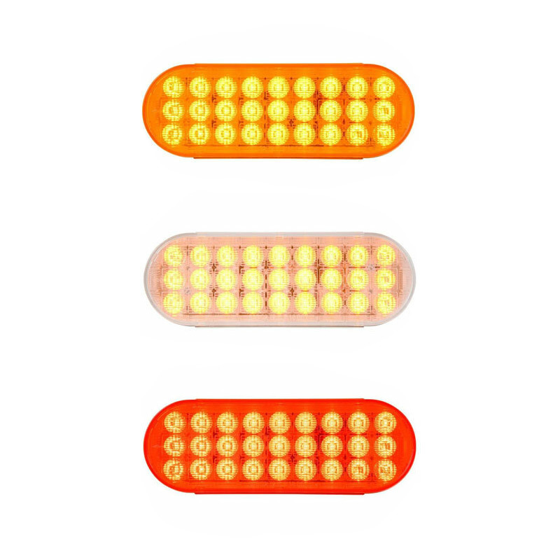 """6 1/2"""" Oval Sequential LED Smart Dynamic Sealed Lights By Grand General - On"""