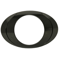 Oval P3 LED Clearance Marker Light Black Chrome Bezel Individual
