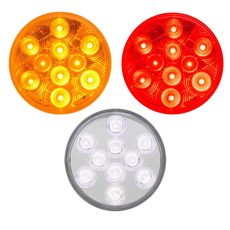 """4"""" Round 'Highway Series' Stop Tail Turn 10 Diode LED Sealed Light"""