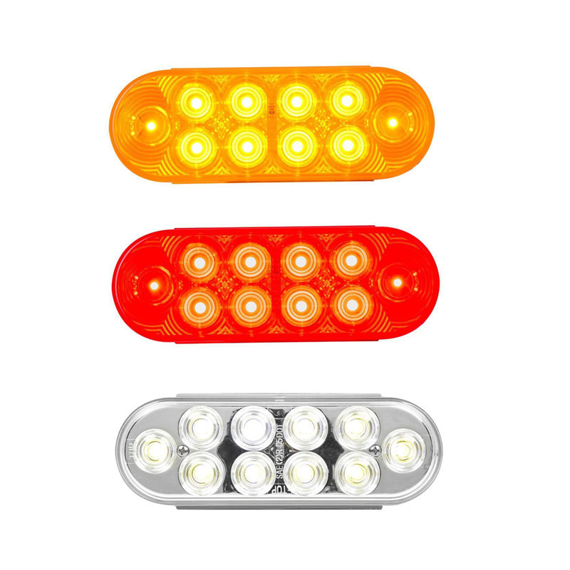 Oval 'Highway Series' Stop Tail Turn 10 Diode LED Sealed Light By Grand General