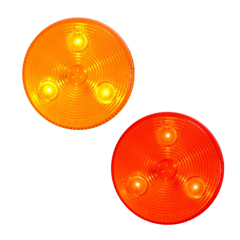 """2.5"""" 'Highway Series' Stop Tail Turn 3 Diode LED Sealed Light By Grand General Both On"""