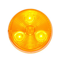 "2"" 'Highway Series' Stop Tail Turn 3 Diode LED Sealed Light By Grand General Amber On"