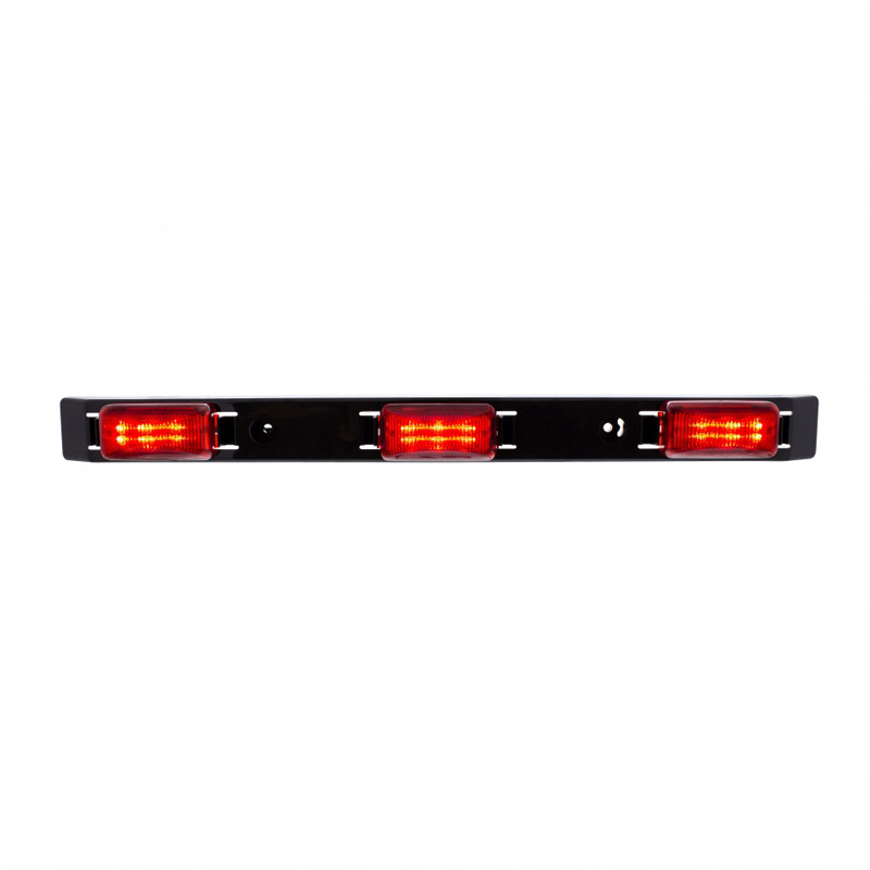 "17"" Polycarbonate Red LED Identification Light Bar Front On"