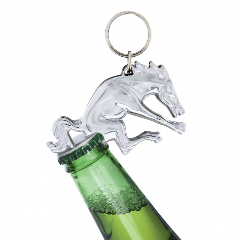 Chrome Bronco Key Chain Bottle Opener On Bottle