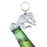 Chrome Bronco Key Chain Bottle Opener On Bottle
