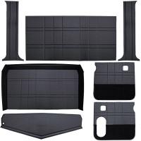 Peterbilt 379 Black Budget Model Interior Kit With Big Rear Window