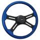 """Onyx 18"""" Steering Wheel (Blue)"""
