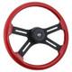 """Onyx 18"""" Steering Wheel (Red)"""