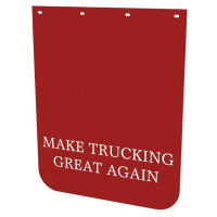 "24"" x 30"" MTGA Poly Red Mud Flaps"