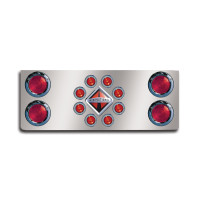 "Rear Center Panel With 4"" And 2"" Round Lights And International"