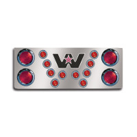 "14"" Rear Center Panel With Round Lights And Western Star Logo"