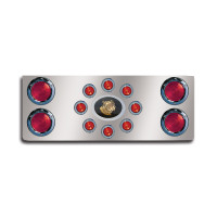 "14"" Rear Center Panel With Round Lights And Mack Logo"