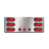 "14"" Rear Center Panel With Round Lights And License Plate Holes"