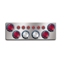 "12"" Rear Center Panel With Round Lights And Backup Lights"