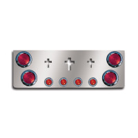 "12"" Rear Center Panel With Round Lights With Crosses By Roadworks"