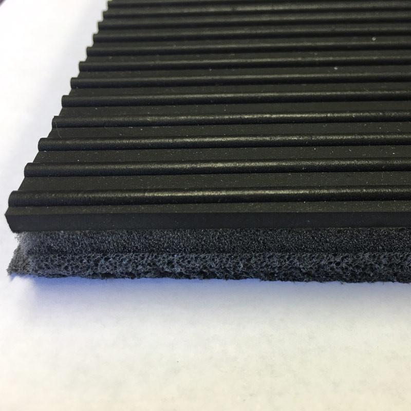 "Peterbilt Kenworth Western Star 60"" x 72"" Black Ribbed Rubber Floor Mat"