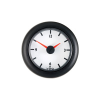 Semi Truck 12V Analog Clock Gauge Viewline Ivory