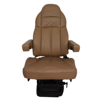Legacy Gold Brown Ultraleather Heat & Massage Seat With Swivel Front View