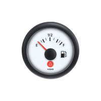 Semi Truck Fuel Level Gauge Viewline Ivory - 0-90 & 240-33 Ohm