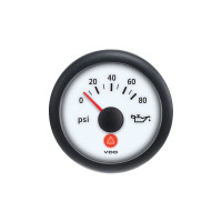 Semi Truck Analog Oil Pressure Gauge Viewline Ivory