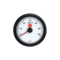 Semi Truck 6,000 RPM Analog Tachometer Gauge Viewline Ivory