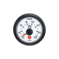 Semi Truck Analog Pyrometer Gauge Viewline Ivory