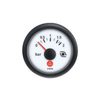 Semi Truck Turbo Gauge Viewline Ivory