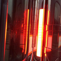 Peterbilt Donaldson Rear Glo-Beam Air Cleaner Bars By Shift Products - Night