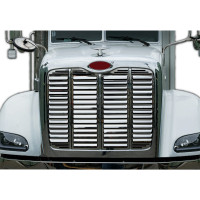 Peterbilt 384 386 Stainless Steel Grill Insert With 15 Louver-Style Bars