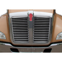 Kenworth T680 Stainless Steel Grill Insert With 15 Louver Style Bars
