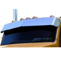 "Kenworth T680 14"" Stainless Steel Drop Visor For Flat Tops"