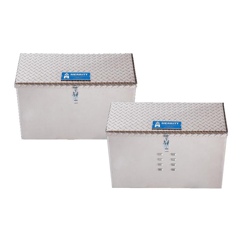 Aluminum DEF Storage Box With Diamond Plate Door