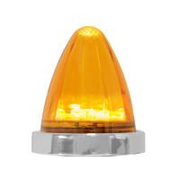 19 LED Bullet Style Watermelon Surface Mount Light Amber Amber Base